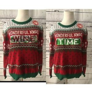 Well Worn Christmas Ugly Changing Sequin New Xs